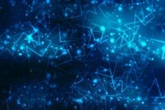 2d conceito da comunidade da rede da ilustração Meios mistos, conceito da conexão de rede Imagens de Stock