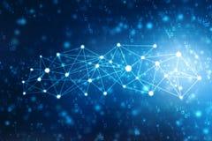 2d conceito da comunidade da rede da ilustração Meios mistos, conceito da conexão de rede Fotografia de Stock Royalty Free