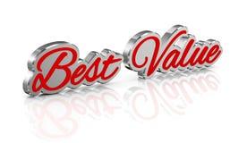 3d concept beste waarde royalty-vrije illustratie