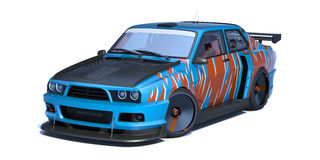 3D concept car Stock Photography
