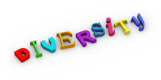 3d concept of diversity Royalty Free Stock Photo