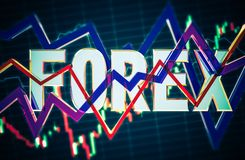 3D Concept Forex Illustration Royalty Free Stock Photography