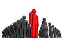 3d concept leader of big people group. teamwork. 3d render illustration Royalty Free Stock Photography