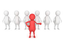 3d concept man icon leadership and team work Stock Photo