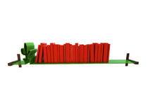 Creative Shelf. 3d concept render of Creative Shelf isolated on a white background Stock Images