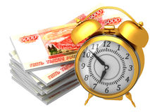 The 3d concept of time is money Royalty Free Stock Images
