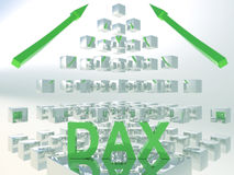 3D Concept van Dax Rising Royalty-vrije Stock Afbeeldingen
