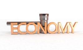 3d concept van de dalingseconomie, Royalty-vrije Stock Afbeelding