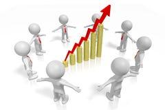 3D concept van de de groeigrafiek Royalty-vrije Stock Afbeeldingen