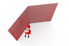 3d concept van de de groetkaart van de Kerstman Stock Foto