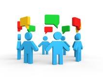 3d concept van de groepsbespreking Stock Fotografie