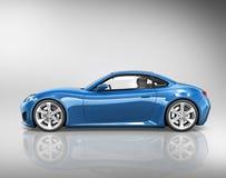 3D Concept van de het Vervoersillustratie van het Sportwagenvoertuig Stock Fotografie
