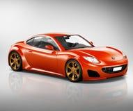 3D Concept van de het Vervoersillustratie van het Sportwagenvoertuig Stock Afbeeldingen