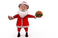 3d concept van de Kerstman Stock Afbeelding