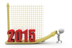 3d concept van de mensen 2015 grafiek Stock Fotografie