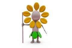 3d concept van de mensenjager Royalty-vrije Stock Afbeelding