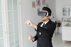 3d concept van de visietechnologie, virtuele glazen Royalty-vrije Stock Foto's