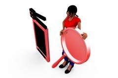 3d concept van de vrouwenbioskoop Stock Foto