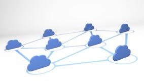3D concept van de wolkenverbinding - geef terug Stock Foto