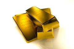 3d concept van goudstaven Royalty-vrije Stock Afbeelding