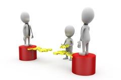 3d concept van het het werkraadsel van het mensenteam Stock Afbeelding