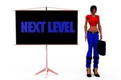 3d concept van het vrouwen volgende niveau Stock Afbeelding