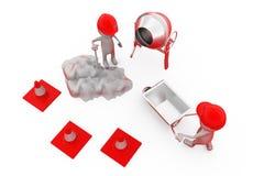 3d concept van mensenbouwvakkers Stock Afbeelding