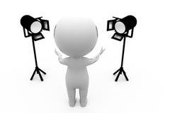 3d concept van mensenlichten Royalty-vrije Stock Afbeeldingen