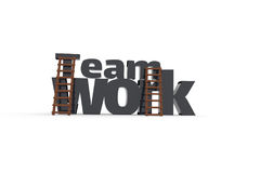 3d concept with the word teamwork Stock Image