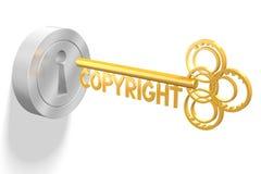3D concetto chiave - copyright royalty illustrazione gratis