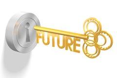 3D concetto chiave - futuro illustrazione vettoriale