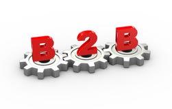 3d concetto degli ingranaggi b2b Immagine Stock Libera da Diritti