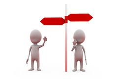 3d concetto del percorso dell'uomo due Immagine Stock