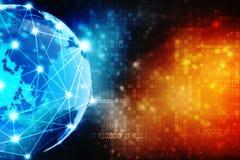 2d concetto della comunità della rete dell'illustrazione Media misti, concetto della connessione di rete illustrazione di stock
