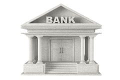 3d concrete Bank Building Royalty Free Stock Photography