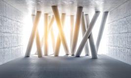 3d concrete kolommen vector illustratie