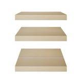 3D concrete plank isoleert achtergrond Achtergrond voor het concept van de productvertoning Stock Foto's