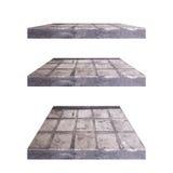3D concrete plank isoleert achtergrond Achtergrond voor het concept van de productvertoning Stock Fotografie