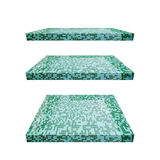 3D concrete plank isoleert achtergrond Achtergrond voor het concept van de productvertoning Royalty-vrije Stock Afbeeldingen