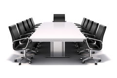 3d conference table and chairs Royalty Free Stock Photo