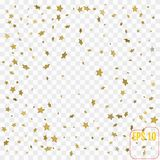 3d Confetti Star Background Pattern. Modern design. Vector. Illustration Royalty Free Stock Photos