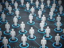 3d a connecté salut la recherche humaine de peuples de réseau de mouvement Image libre de droits