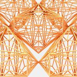 3d Connected Octahedron Evolving Loop Royalty Free Stock Images