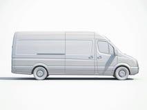 3d consegna bianca Van Icon Immagine Stock Libera da Diritti