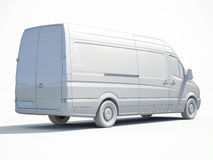 3d consegna bianca Van Icon Fotografie Stock