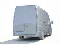 3d consegna bianca Van Icon Immagine Stock