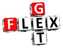 3D consiguen el texto de Flex Crossword Imagen de archivo libre de regalías