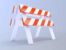 3d Construction barrier Stock Photos