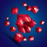 3D construction colorée abstraite élégante moderne, facette d'origami Photo libre de droits