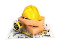 3d construction concept Stock Photos